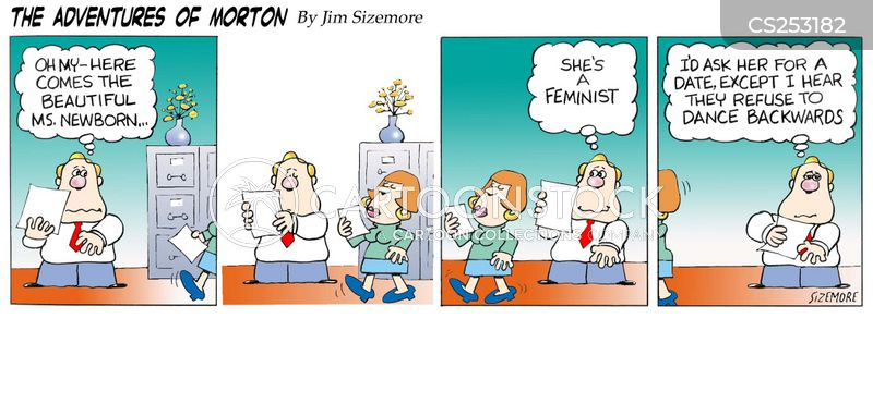 female office workers cartoon