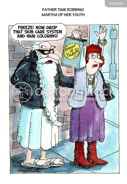 hair dyes cartoon