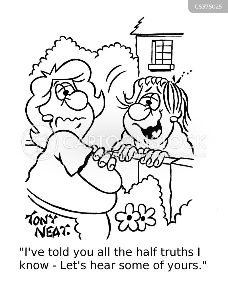 half truth cartoon