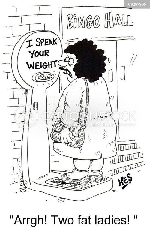 weighty cartoon