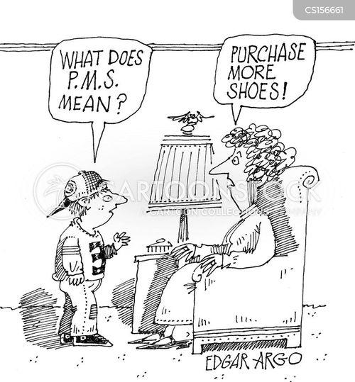 awkward question cartoon