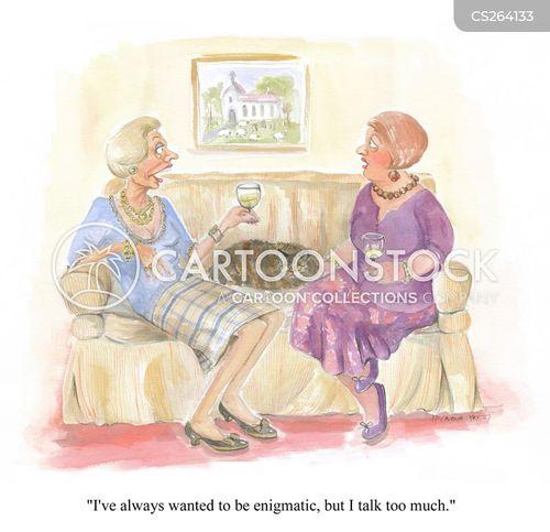 talkative woman cartoon