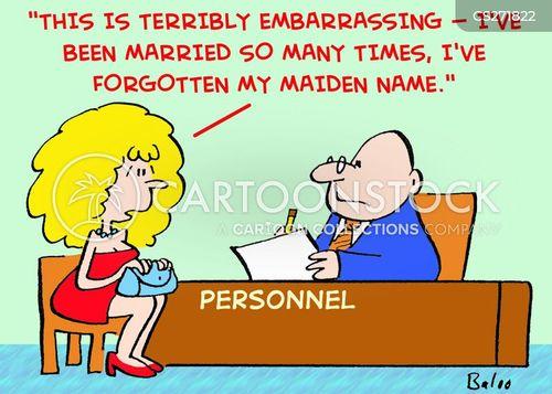 maiden name cartoon
