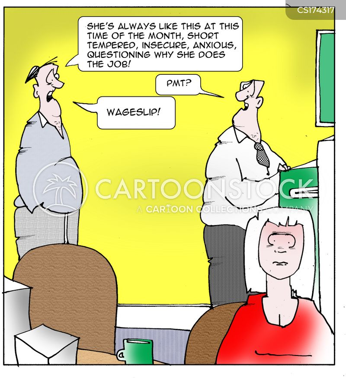 wage slips cartoon