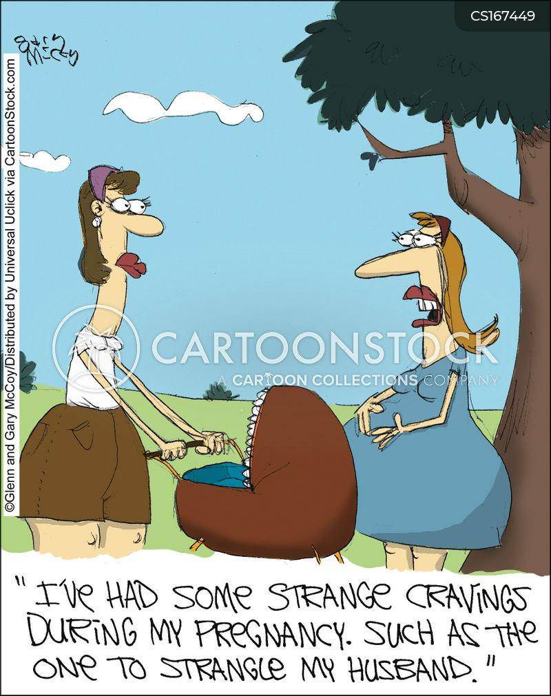 strangling cartoon