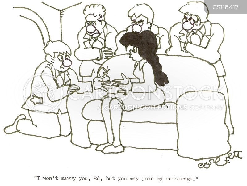 turned down cartoon