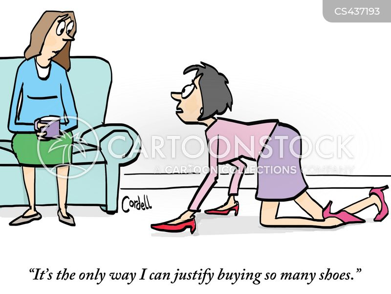 shoe addicts cartoon