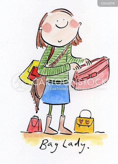 handbags cartoon
