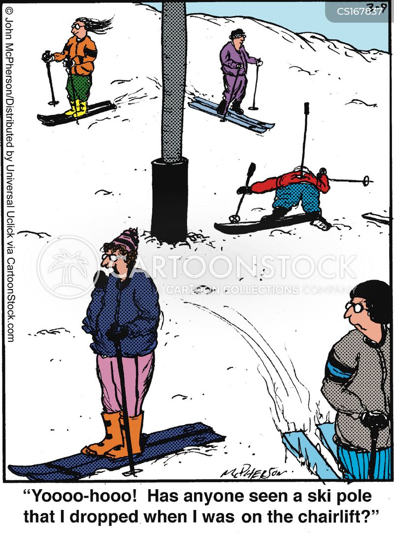 ski cartoon