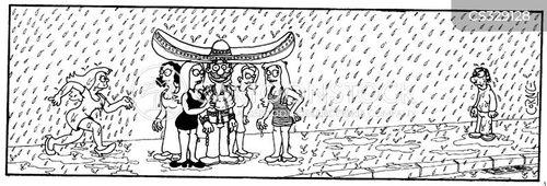 female attention cartoon