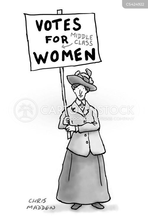 suffragettes cartoon