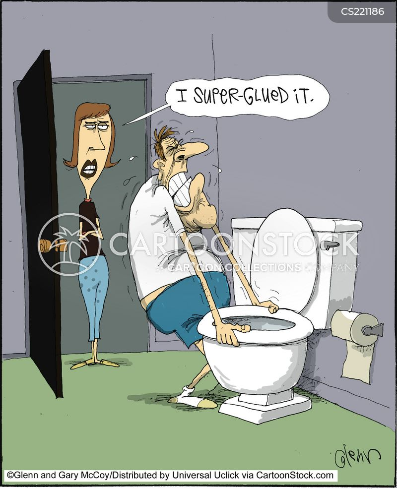 toilet seat cartoon