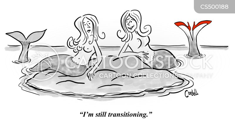 transitioning cartoon