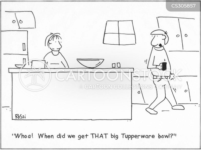tupperware bowl cartoon