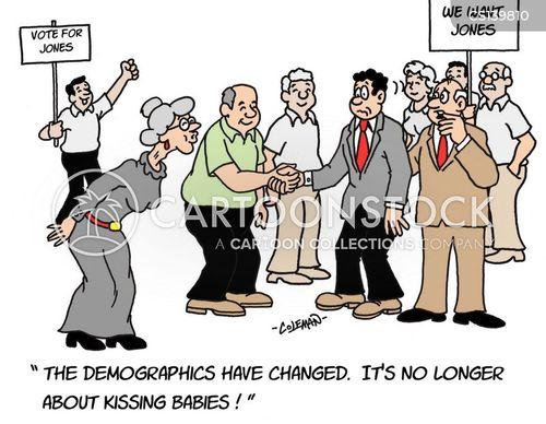 voter demographics cartoon