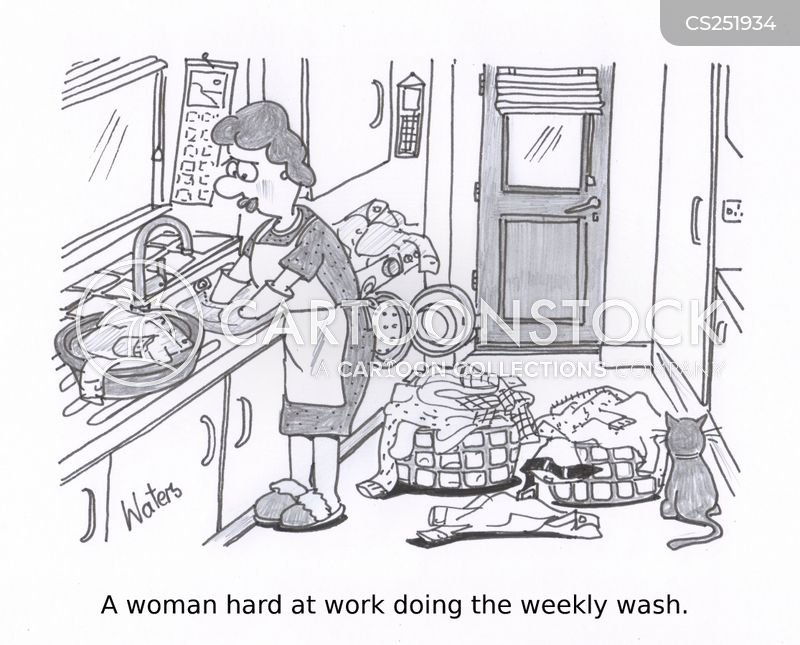 washerwoman cartoon