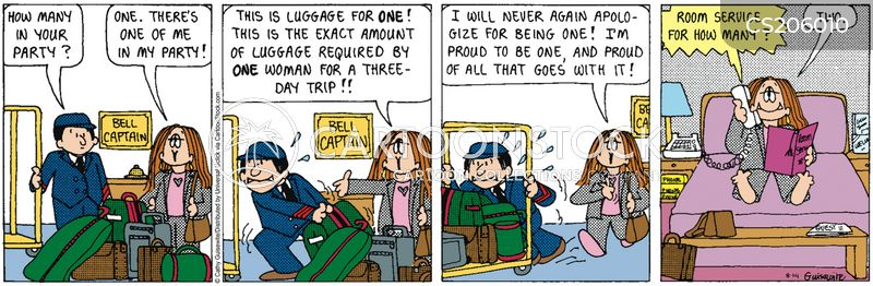 luggage handler cartoon