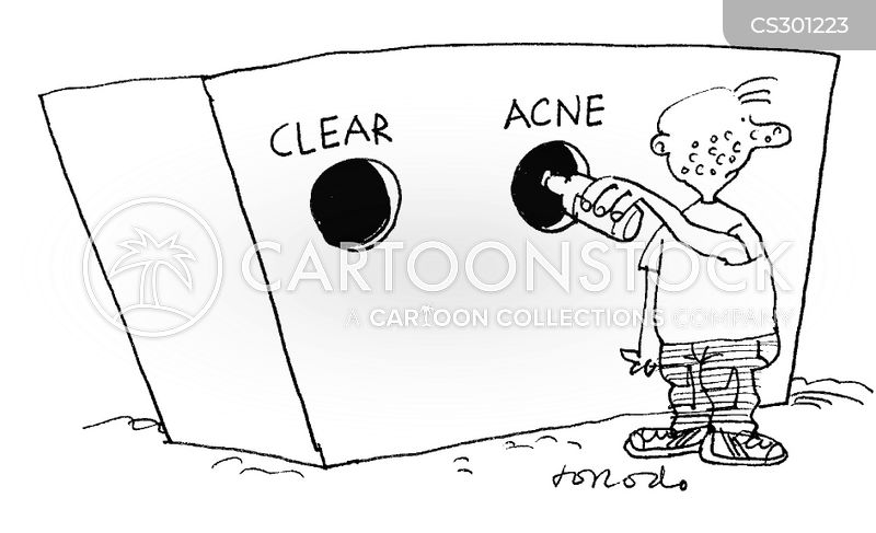 clear skin cartoon