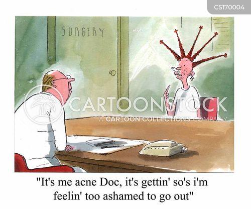 acne cartoon