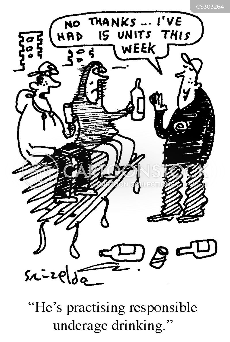 drunk and disorderly cartoon