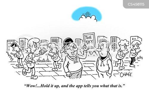 mobile addiction cartoon