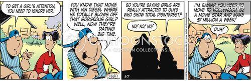 pick up women cartoon