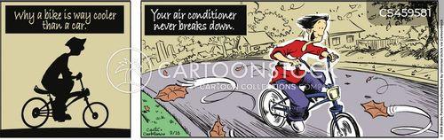 riding bikes cartoon