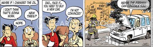 family cars cartoon