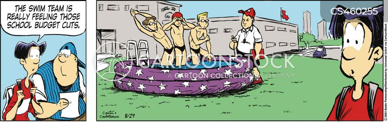 wading pool cartoon