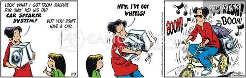 car speaker cartoon