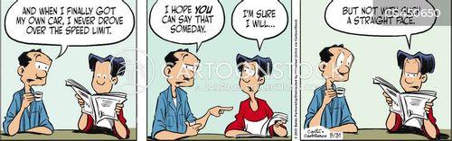 driver safety cartoon