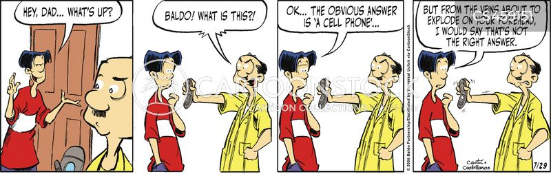 cell phone addicts cartoon
