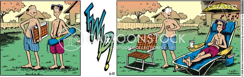 chaise lounges cartoon