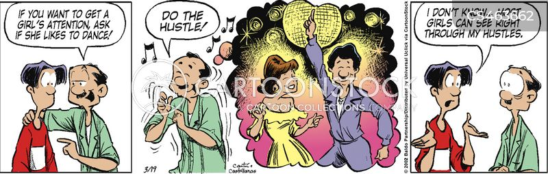 disco dancers cartoon