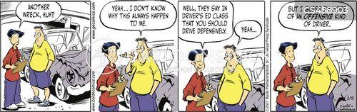 car wrecks cartoon