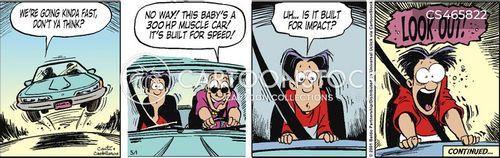 first car cartoon