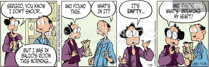 empty bag cartoon