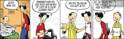 saves money cartoon