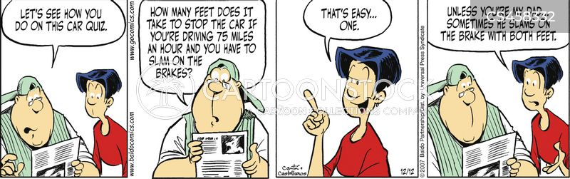 drivers tests cartoon