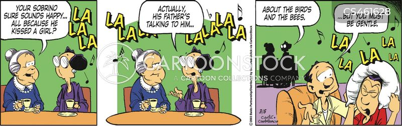 father-son chat cartoon