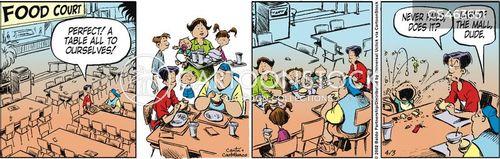 free table cartoon