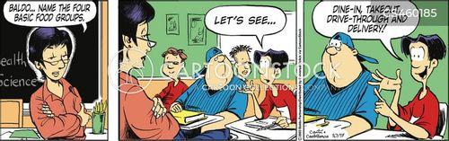 food groups cartoon