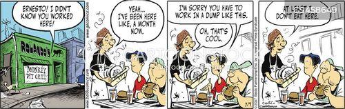 fast food workers cartoon
