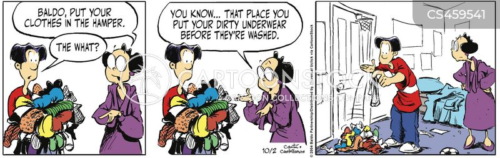 dirty clothes cartoon