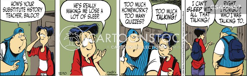lose sleep cartoon