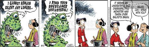 gross foods cartoon