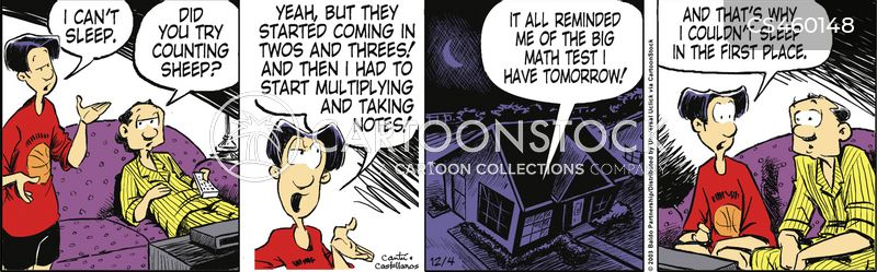 math tests cartoon