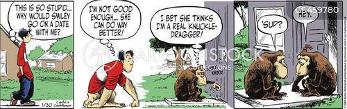 knuckle-dragger cartoon