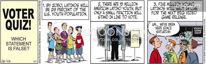 stand in line cartoon