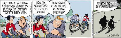 lotto ticket cartoon
